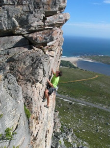 Rock climbing counts among the passions of entomologist Prof. John Terblanche. Photo: Susanna Clusella-Trullas