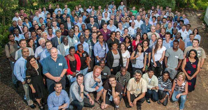 Die meer as 215 konferensiegangers tydens die 8ste SKA SA  Studentekonferensie op Stellenbosch. Foto  8a20419da4