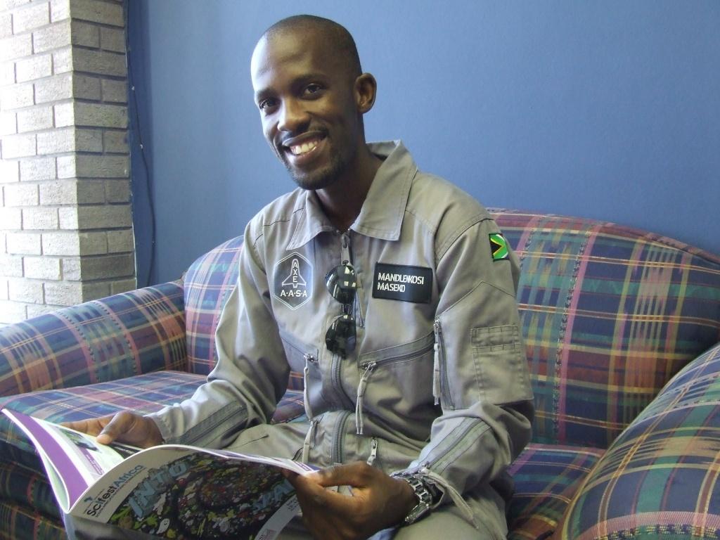 Mandla Maseko sal slegs die tweede Suid-Afrikaner word wat al in die ruimte was. Foto: Elsabe Brits/Die Burger