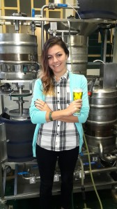 Dr Melanie Nieuwoudt at the brewery of the Stellenbosch University Department of Process Engineering where she did part of her research work. Photo: Hanjo Odendaal