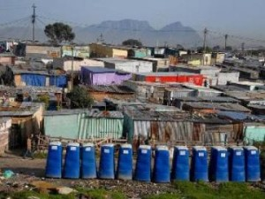 AfriSan toilets in an informal settlement. Photo by Masixole Feni.