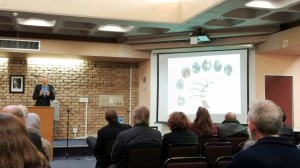 Nina Jablonksi talks about primate evolution and facial recognition at the Science Awareness Day, UCT.