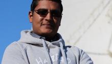 Arvind Ramessur of UNISA (Photo: HARTRAO)