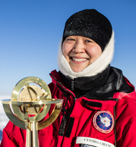 Astrophysicist Dr Cynthia Chiang is involved in the Spider experiment – short for the Suborbital Polarimeter for Inflation, Dust and the Epoch of Reionisation experiment - in Antarctica. Photo: Steffen Richter