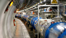 Inside the Large Hadron Collidaer experiment. Image by Pierre Albouy, Reuters.
