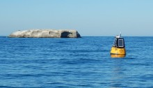 Dirk Muller has designed and manufactured a prototype coastal metocean bouy. Photo: CPUT website