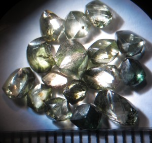 The Witwatersrand diamond collection at Museum Africa, Johannesburg. Credit: S Webb